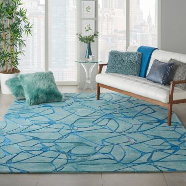 Symmetry Rugs in Aqua / Blue SMM05
