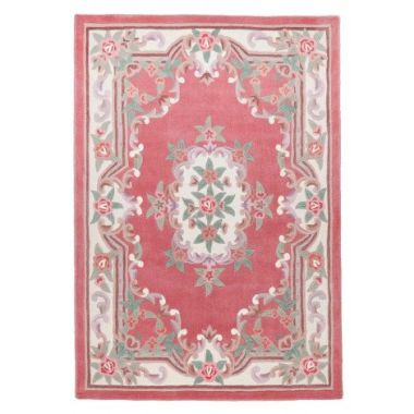Ming Dynasty Chinese Rug in Rose Pink