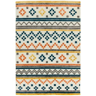 Theo Geometric Earth Tone Rugs