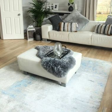 Toros Illusion Ice Blue Rugs By Gooch Oriental