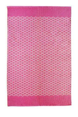 Hug Rug Woven Trellis - Coral Pink