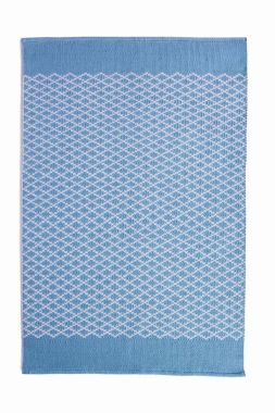 Hug Rug Woven Trellis - Denim Blue