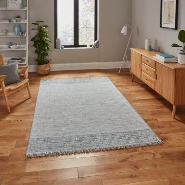 Tweed Beige/Blue Outdoor rug