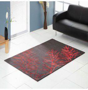 Unique Flourish - Charcoal & Red
