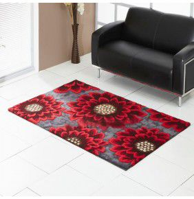 Unique Poppy - Grey & Red