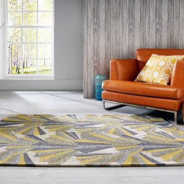 V&A Fanfare Rugs In Yellow