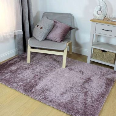 Velvet Rugs in Mauve