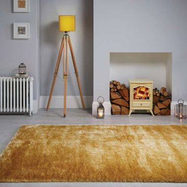 Velvet Rugs in Ochre
