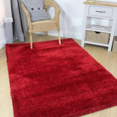 Velvet Rugs in Red
