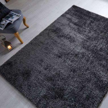 Velvet Rugs in Charcoal