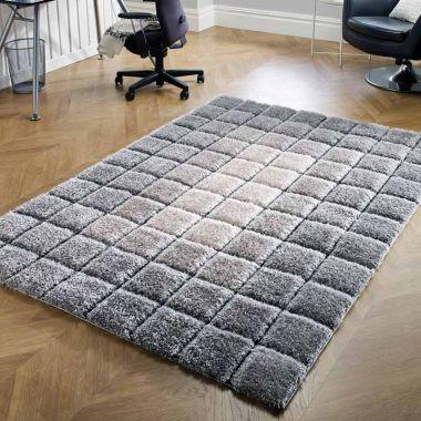 Velvet 3D Cube in Grey