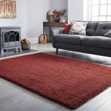 Velvet Rugs in Berry