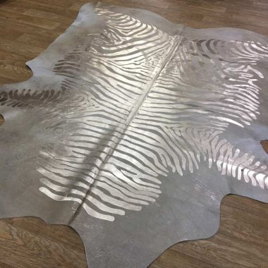 Zeb-Tastic Zebra Rugs - Gold