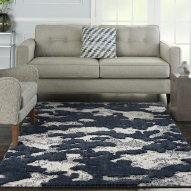 Zermatt Rugs in Blue / Grey by Nourison ZER01