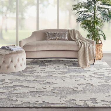 Zermatt Rugs in Ivory / Grey by Nourison ZER01