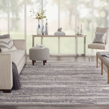 Zermatt Rugs in Grey / Ivory by Nourison ZER02