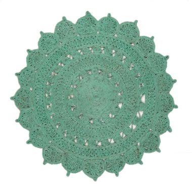 Zira Jute In Turquoise - 005