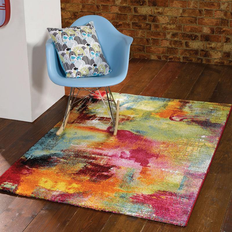 Modern & Funky, Bright Designer Artist Multi Colour Rugs 3 SIZES - Bouden Multi