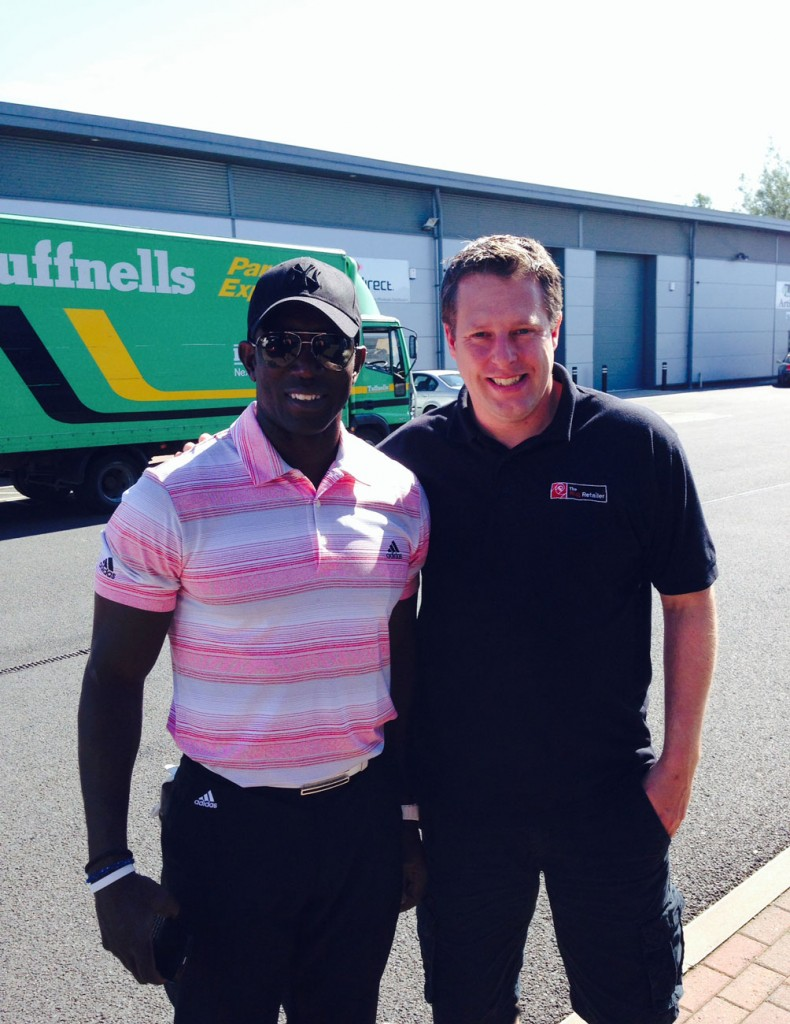 Dwight Yorke Visits Tour X Golf & The Rug Retailer
