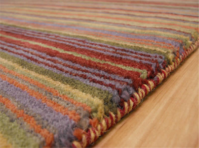 You CAN re-use your old clothes to make rugs!
