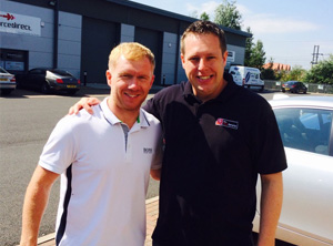 Manchester United Legend Paul Scholes Visits The Rug Retailer