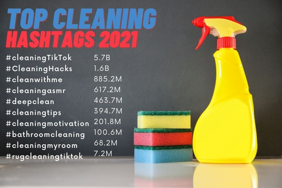 Top Cleaning Hashtags 2021
